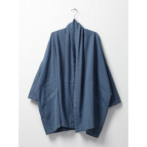 haori coat in upcycled denim