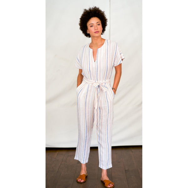 Birds of Paradis Brooke Jumpsuit in Multi Stripe