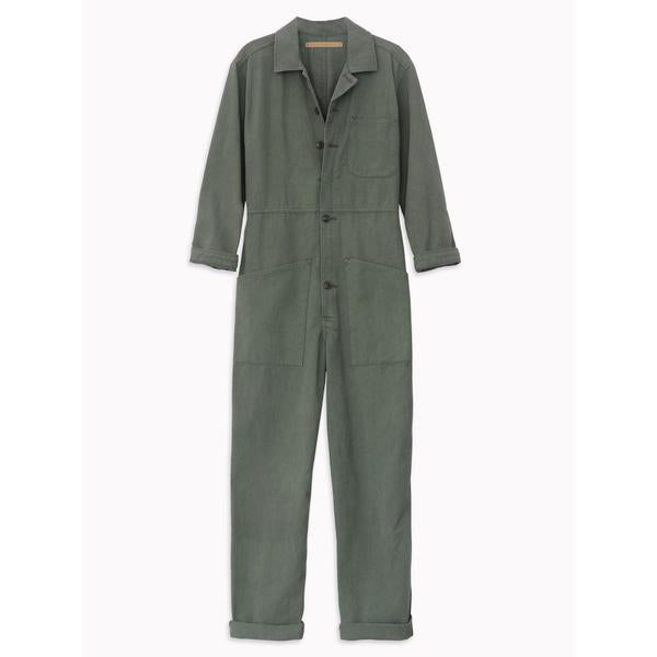 long flight suit in army green