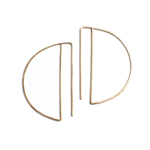 deco hoops in 14k gold