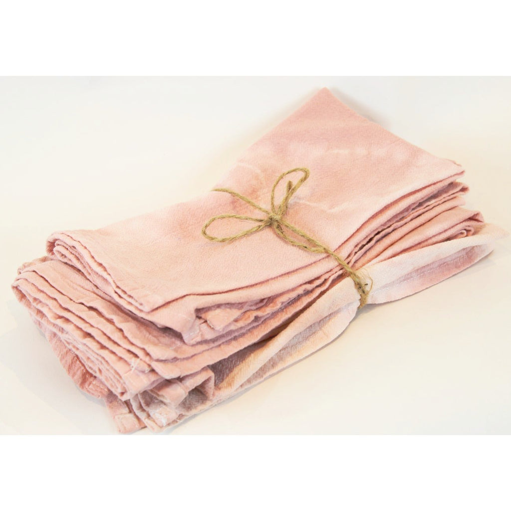 dusty rose shibori napkins