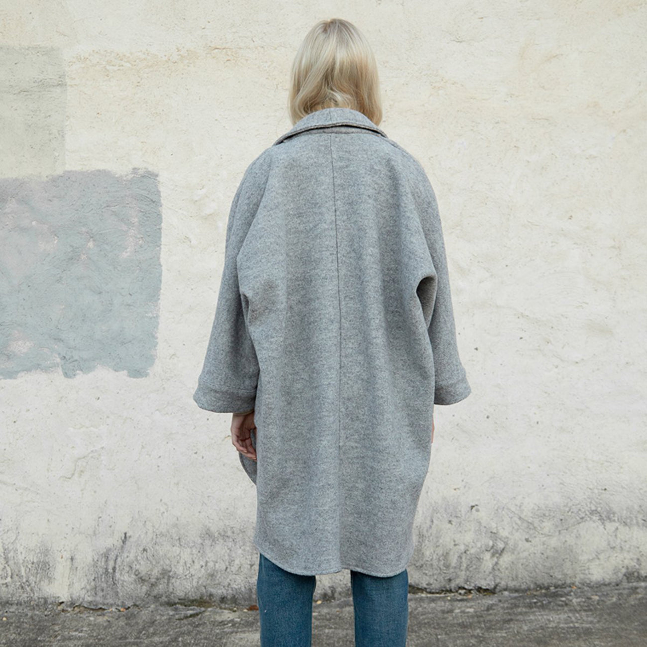 cora duster in grey wool