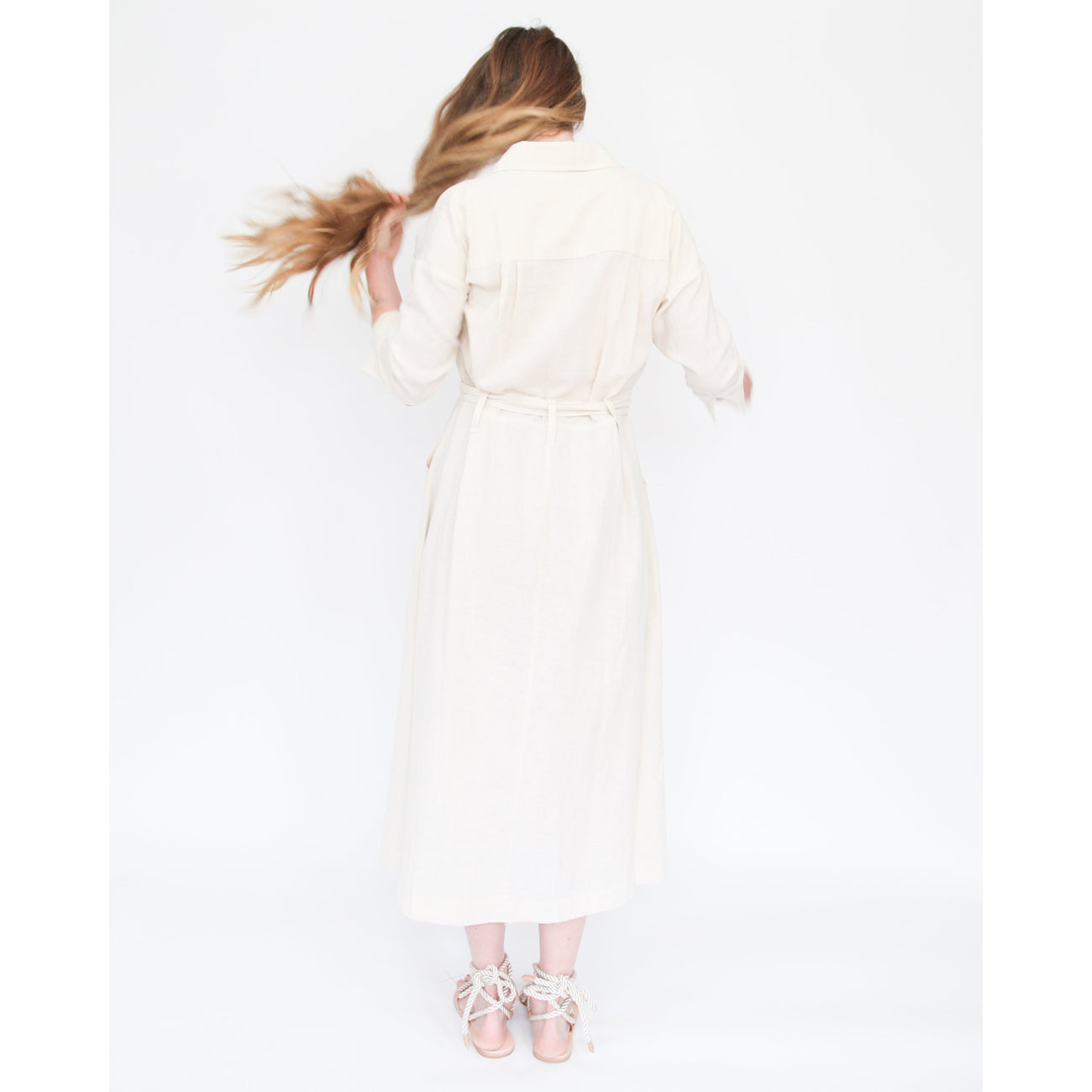Esby Mabel Shirt Dress in Natural