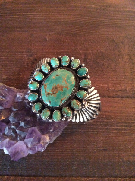 Native American Turquoise Cuff- old pawn