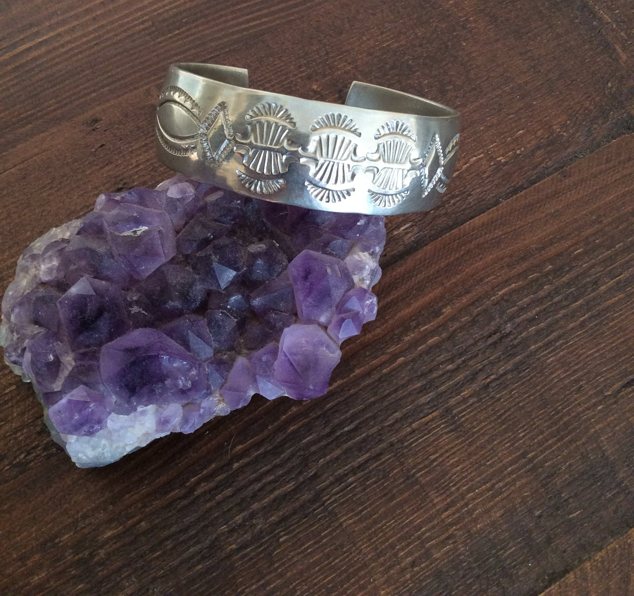 Native American Hand- Stamped Cuff