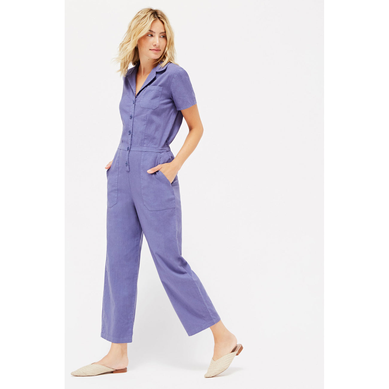 LACAUSA Montana Jumpsuit in French Blue