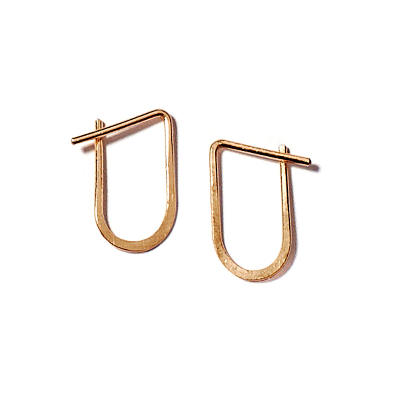 Lila Rice Oro Hoops in 14K Gold