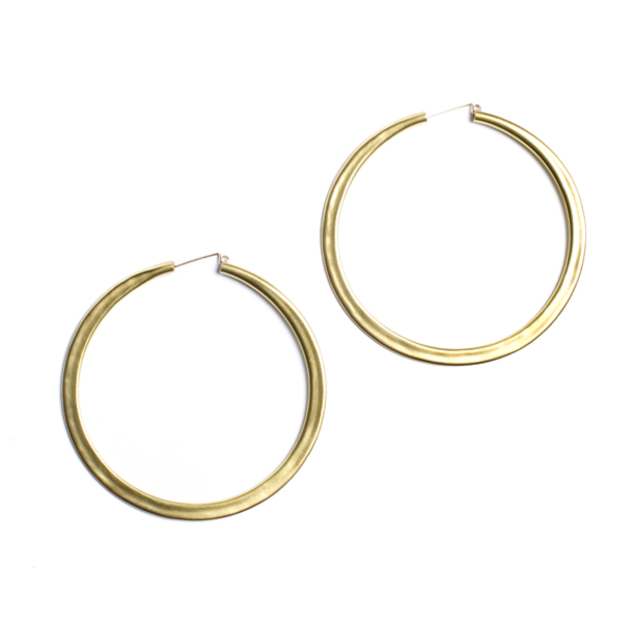 Lila Rice Simple Hoops: Brass