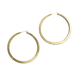 simple hoops: brass