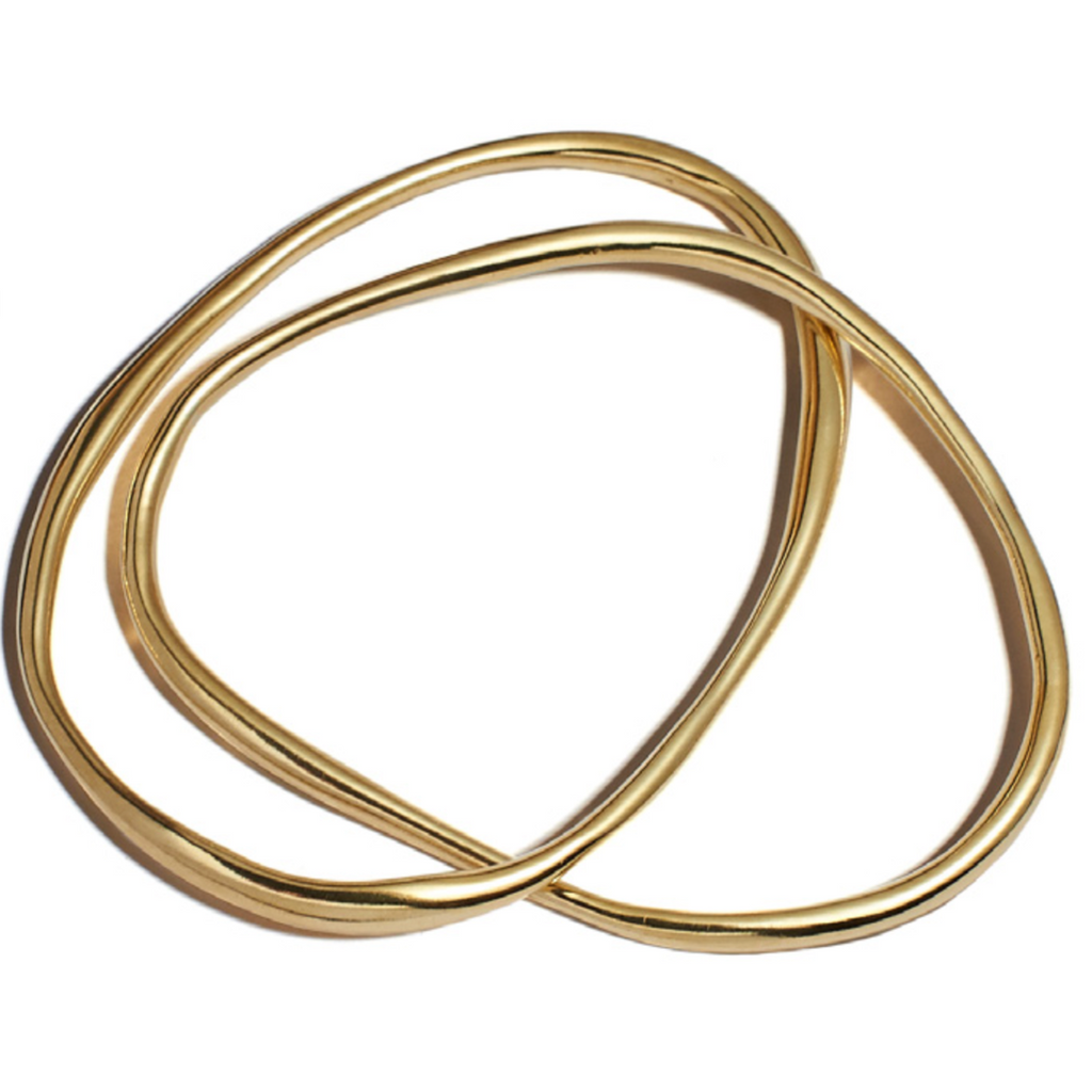 double rialta bangle in brass