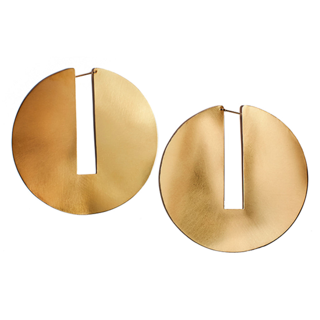 split disc hoops in brass