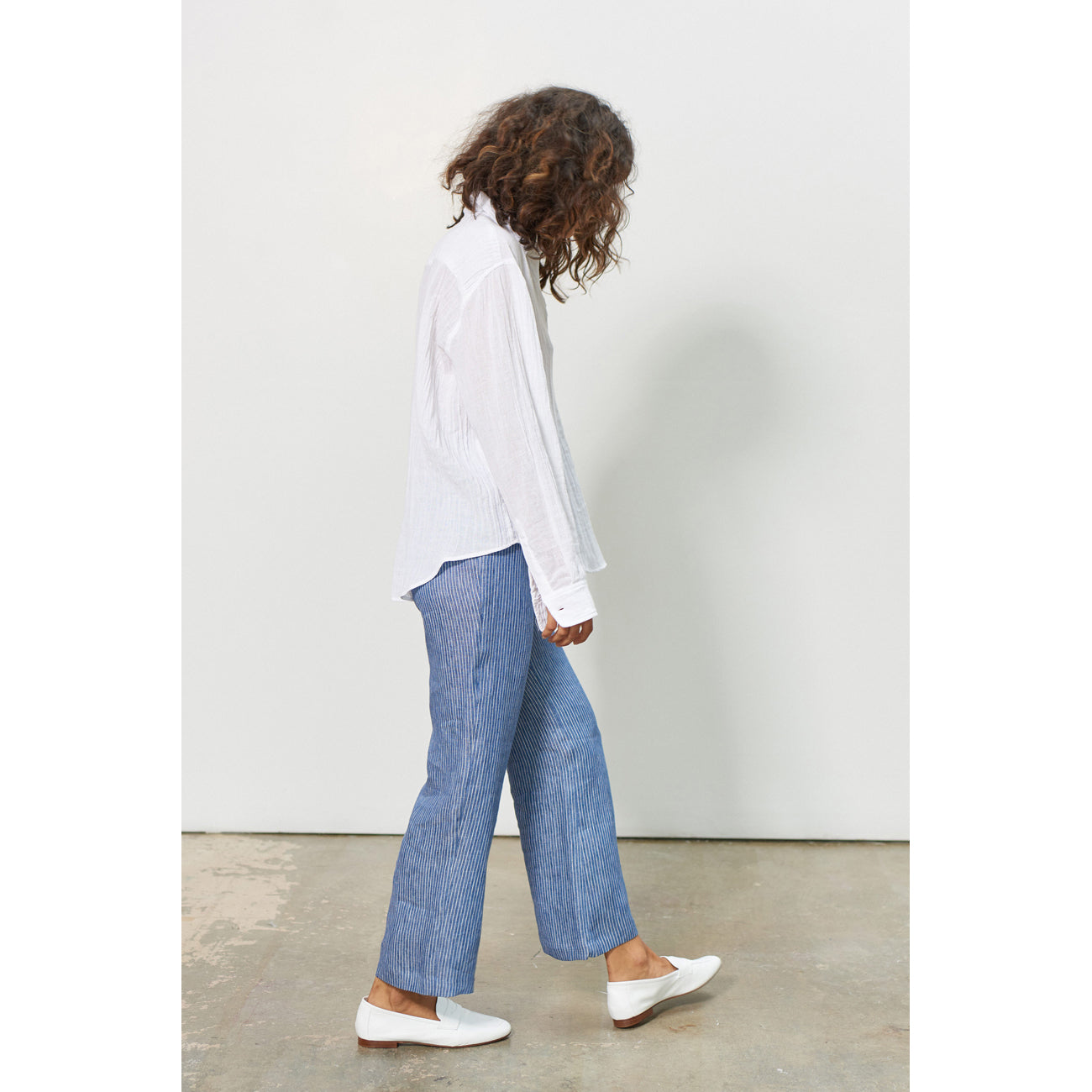 Mara Hoffman Arlene Pant in Denim Stripe