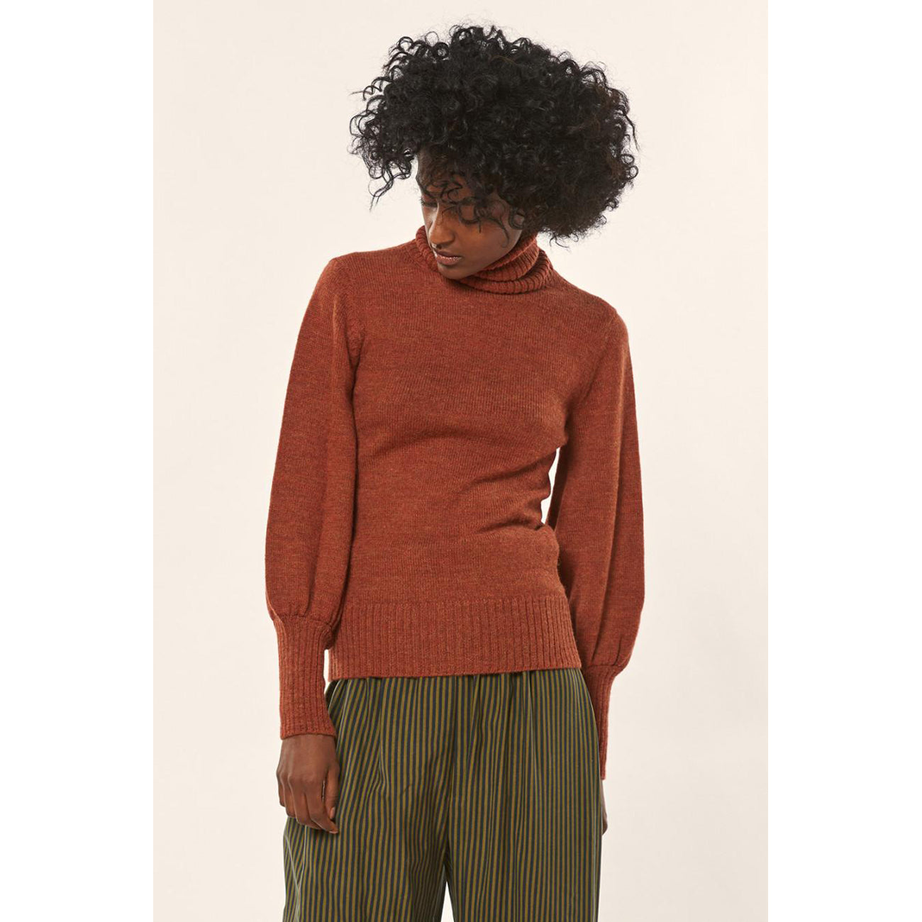 Mara Hoffman May Sweater in Rust