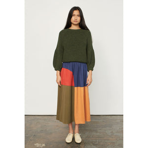 milly skirt in penny colorblock