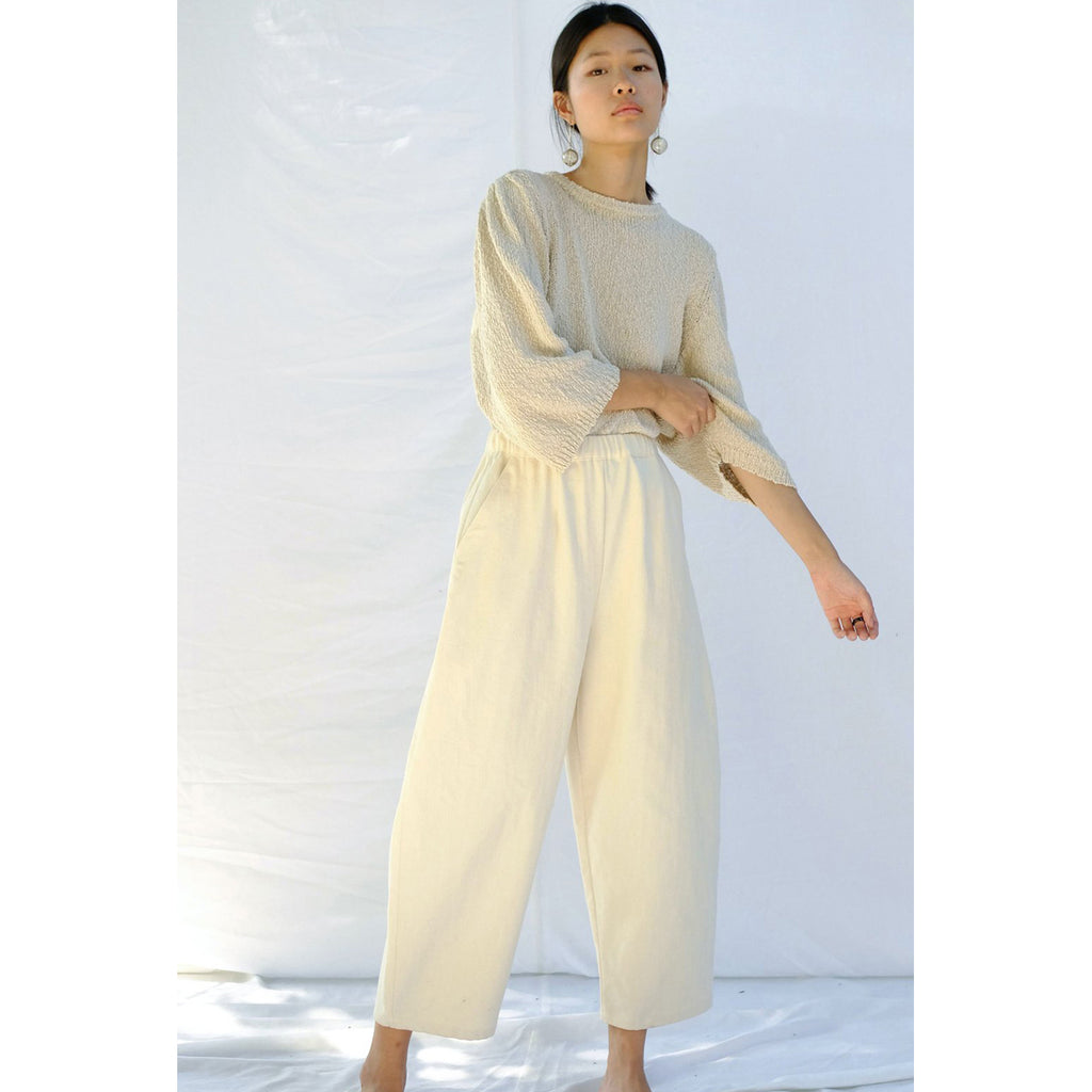 barrel pant in cream