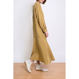 luca dress in ochre