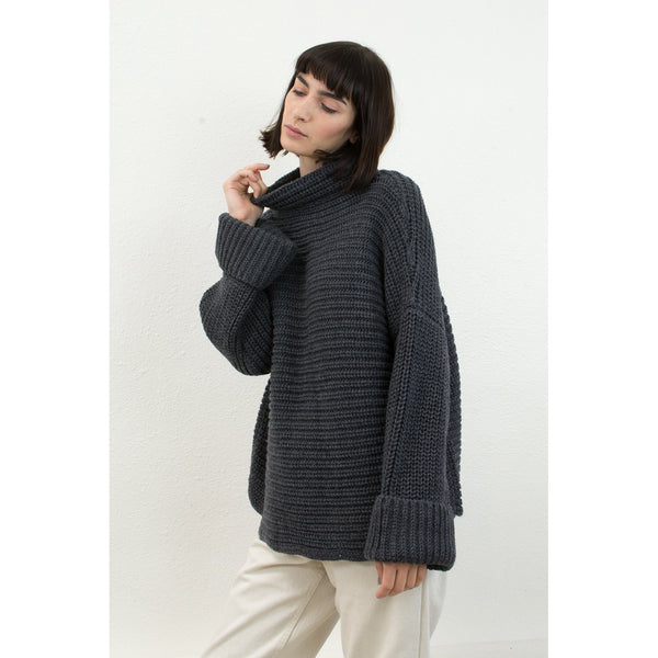 Micaela Greg Parallel Pullover in Melange Grey