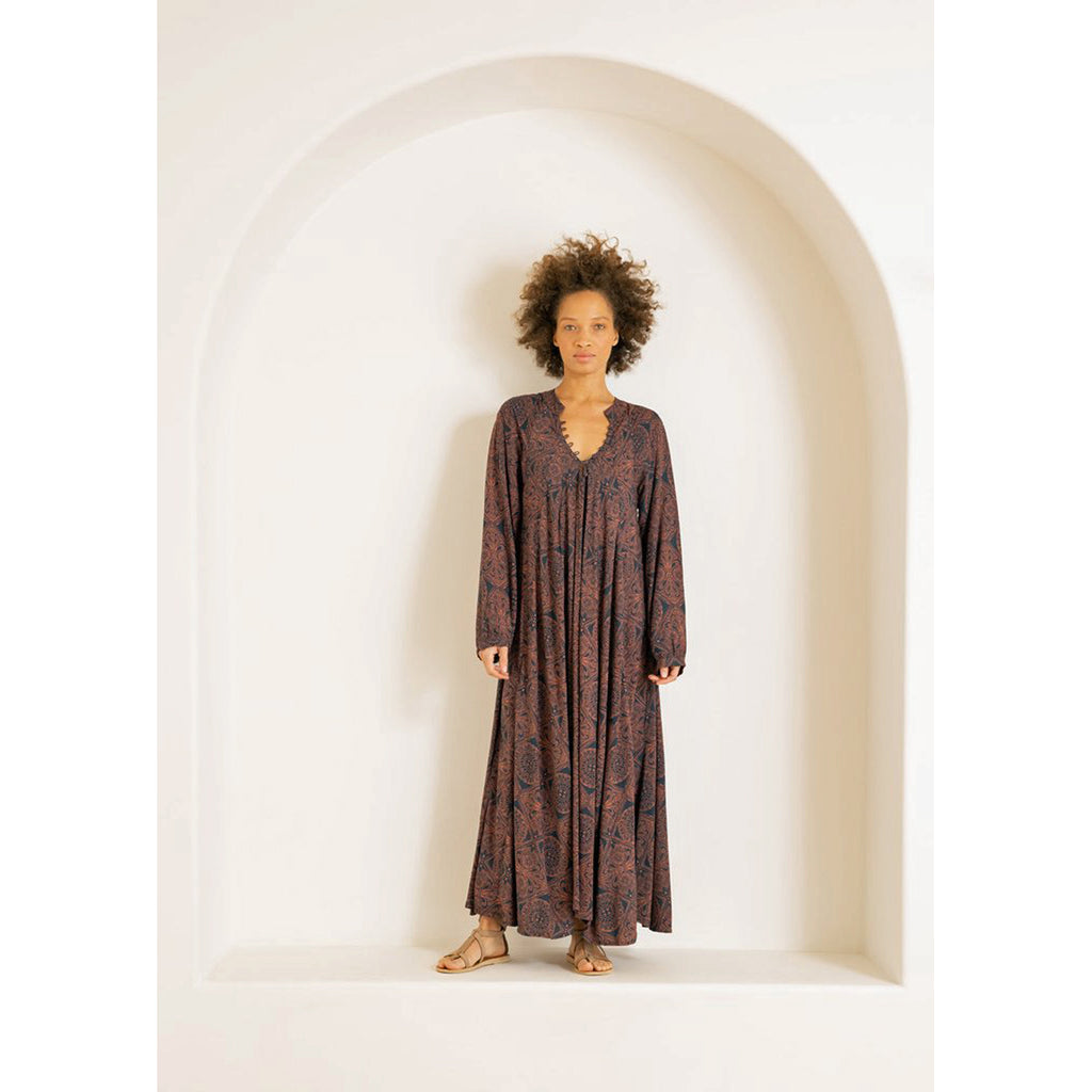 fiore maxi dress in moroccan tile