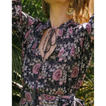lizzy shirt in vintage flowers violet