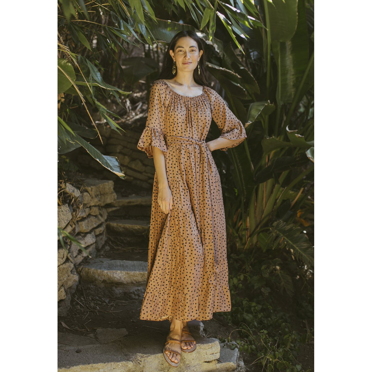 mesa maxi in polka dot tan
