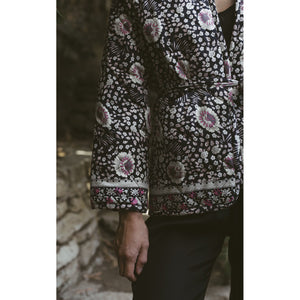 nina jacket in vintage flowers midnight