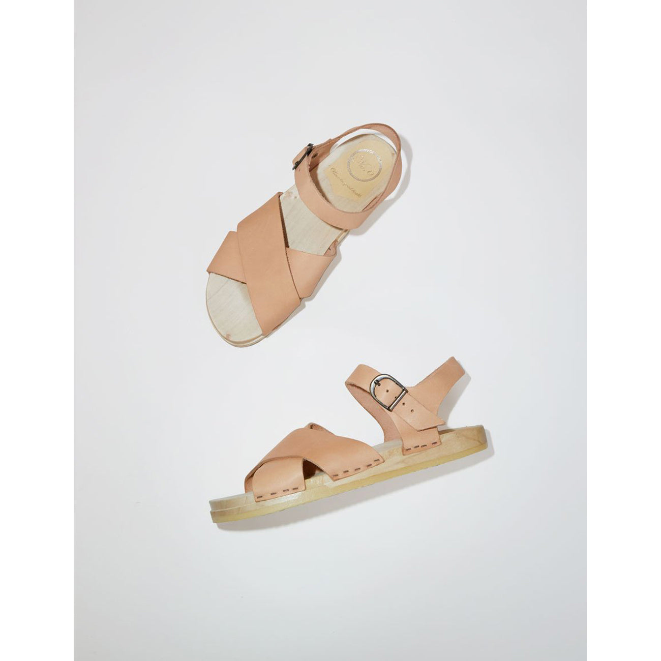 No.6 Coco Cross Front Clog in Naked