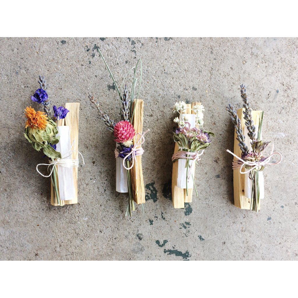 palo santo, selenite + wildflower bundles