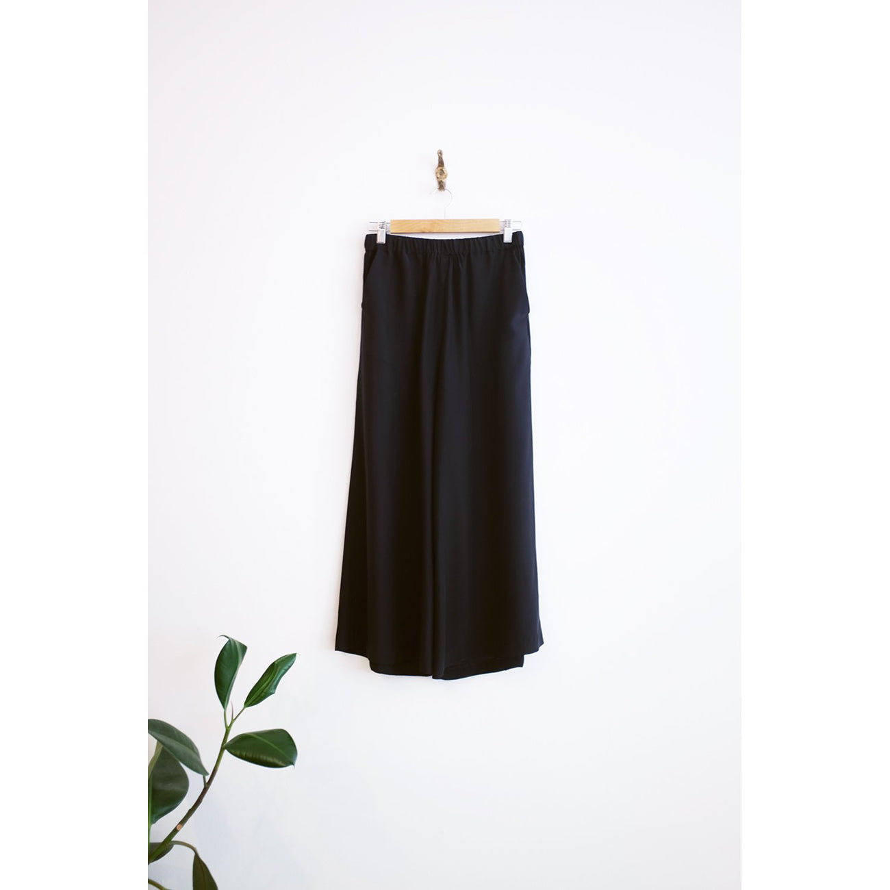 Rachel Craven Silk Wide Leg Pant in Black