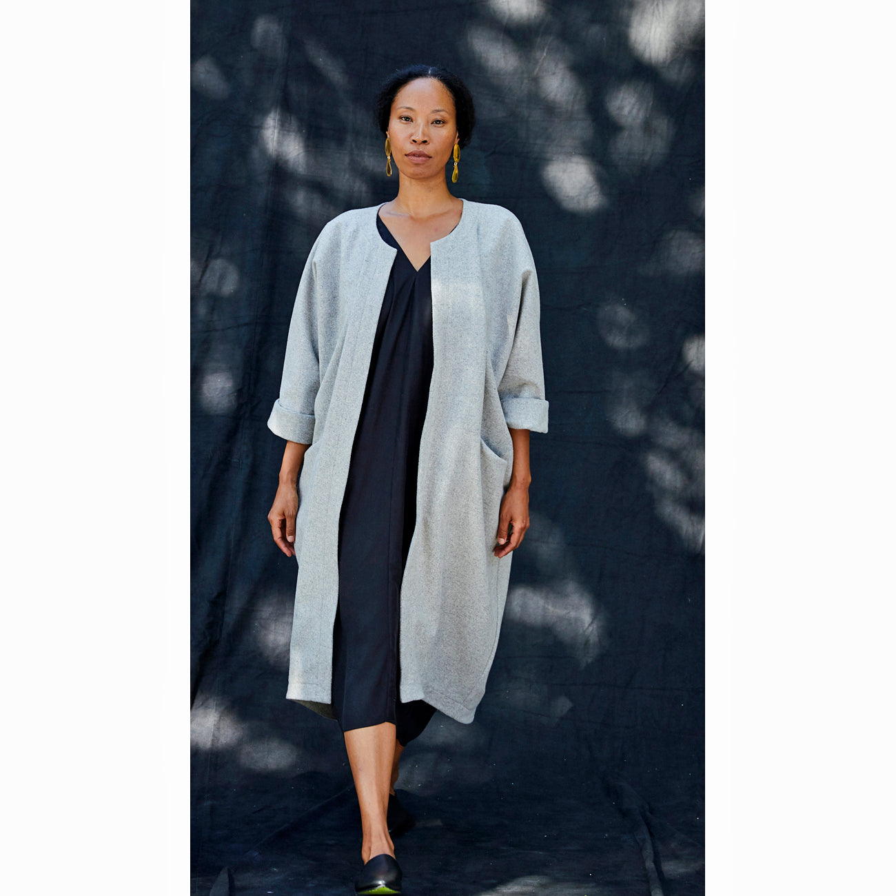 north moore coat in heathered grey