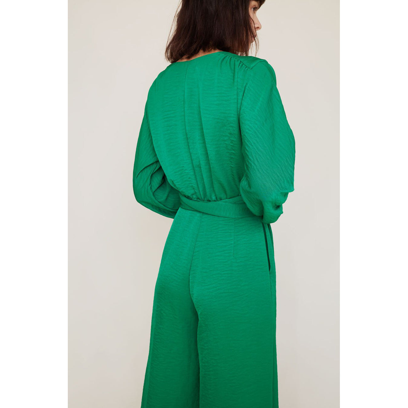 No.6 Romy Jumpsuit in Emerald Cupro
