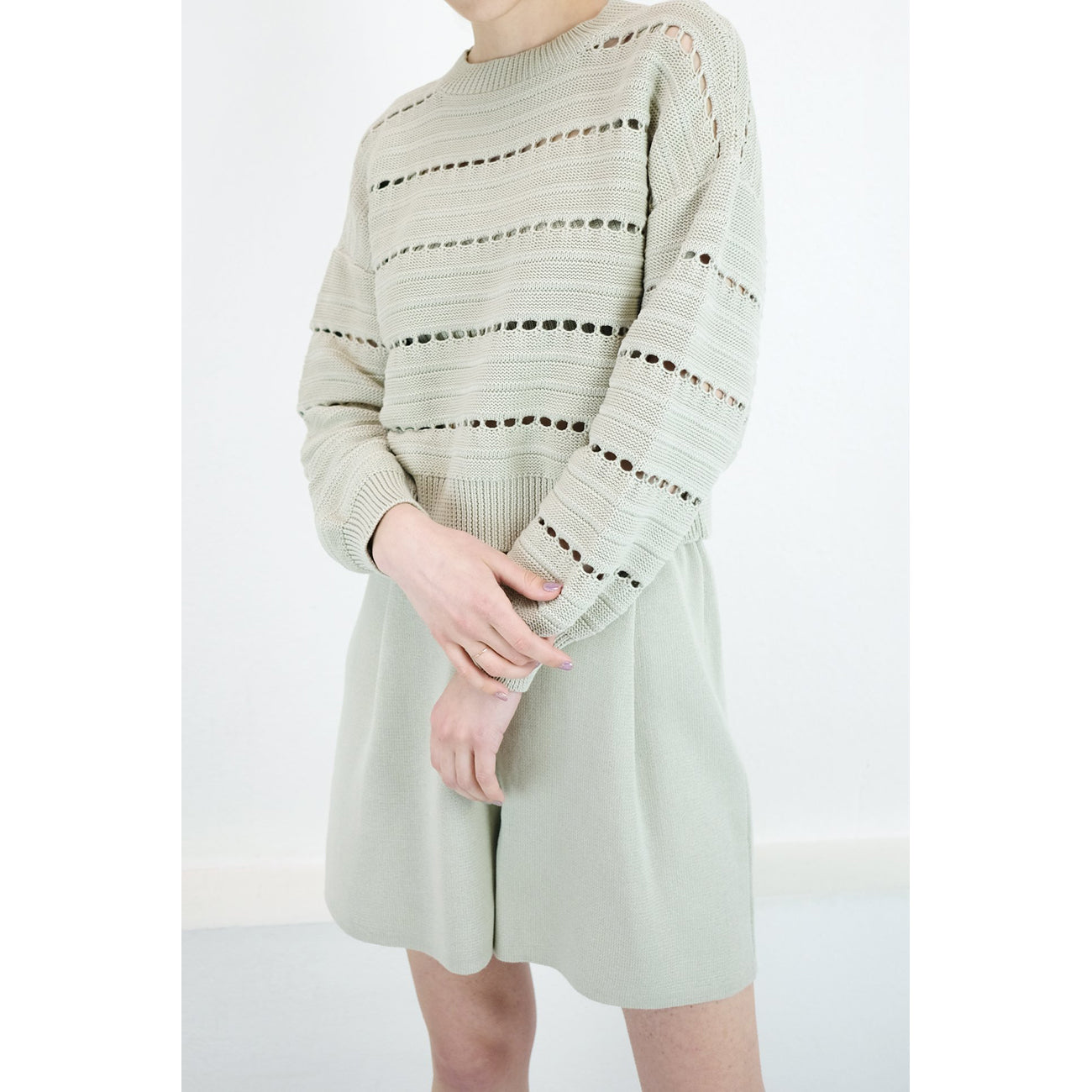 Micaela Greg Sea Salt Lune Sweater