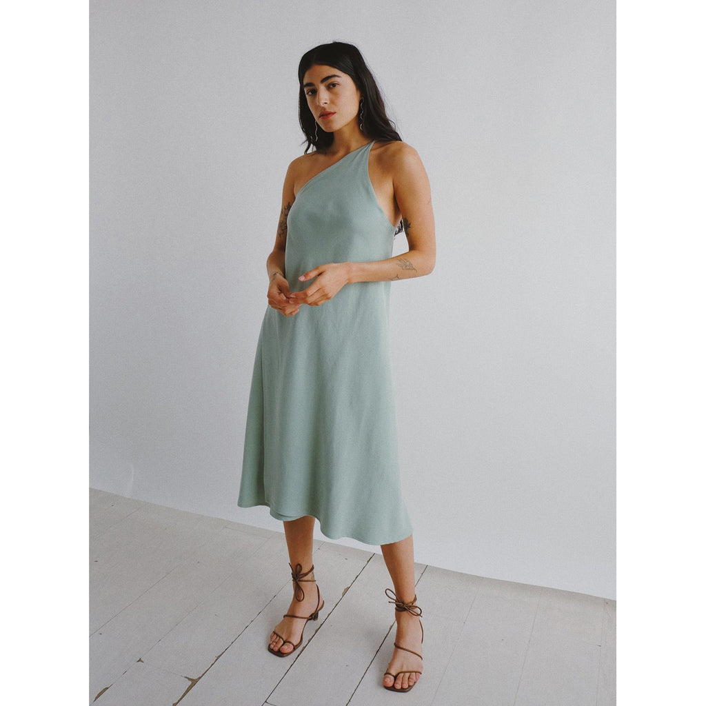 ava dress in sage