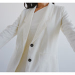 flo jacket in cloud linen