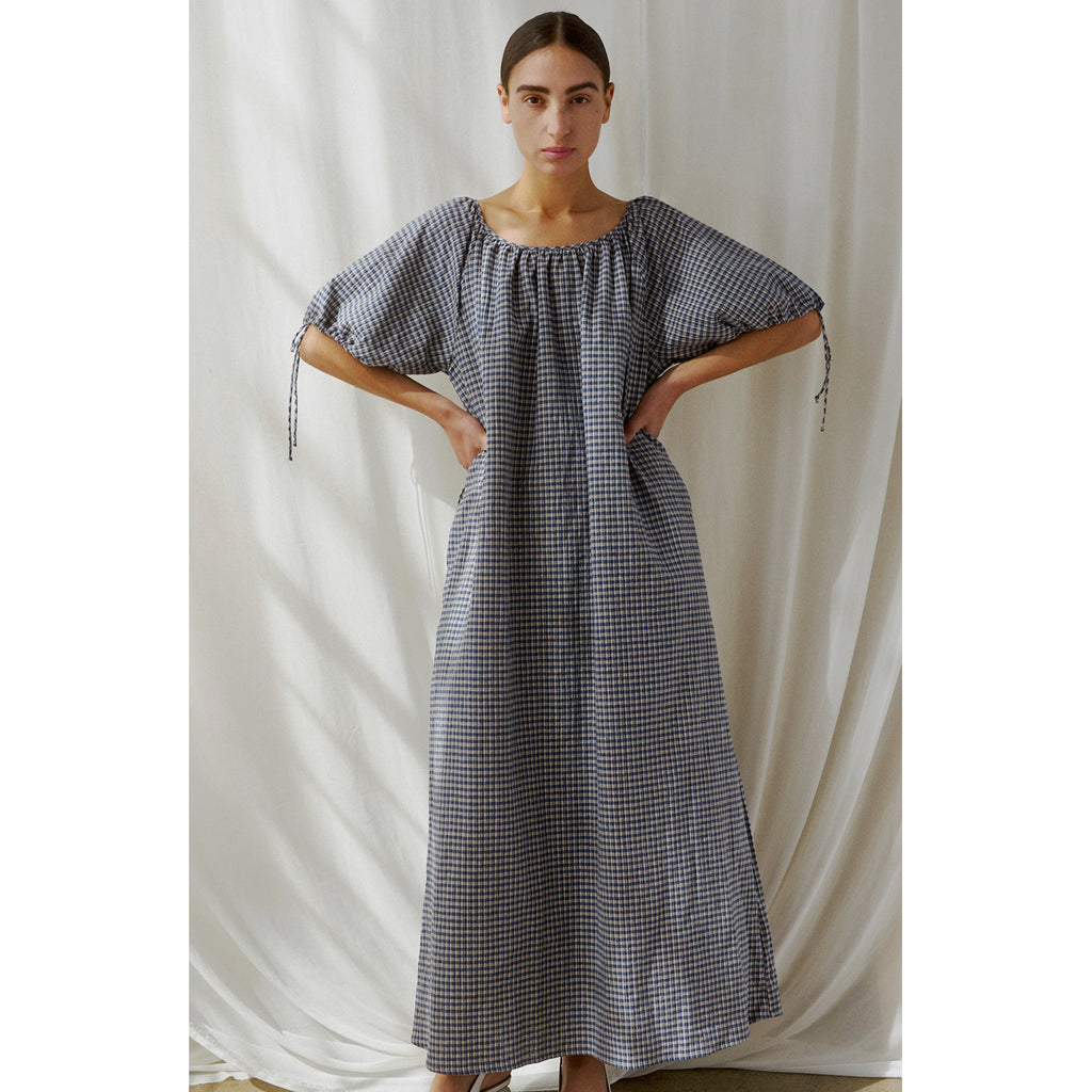 suelta dress in plaid linen