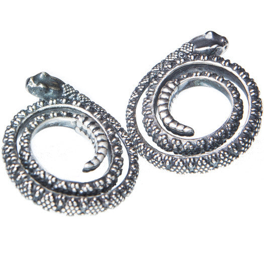 Peyote Moon Snake Coil Earrings