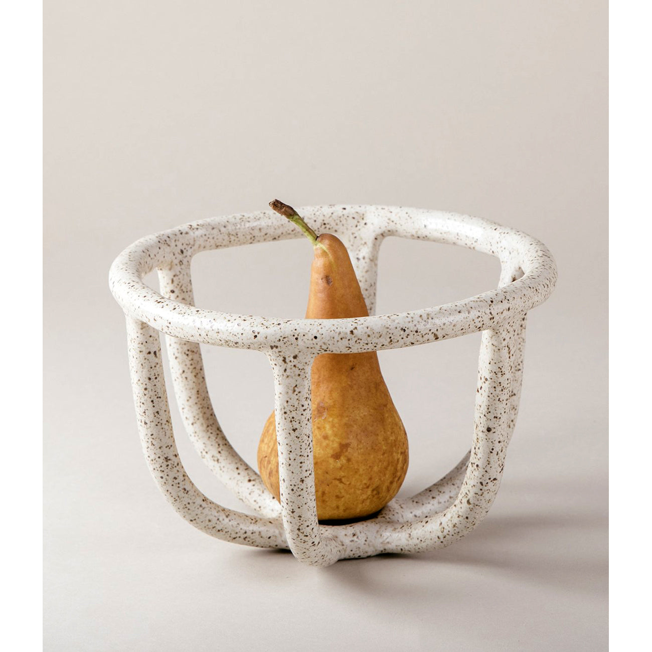 moth fruit bowl in speckled white