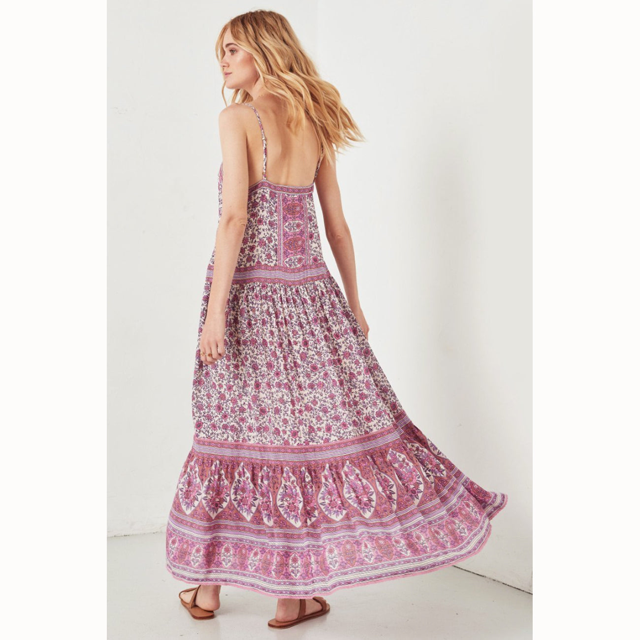 Spell and The Gypsy Collective Jasmine Strappy Maxi in Lilac
