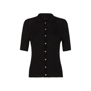 arlo knit shirt in black