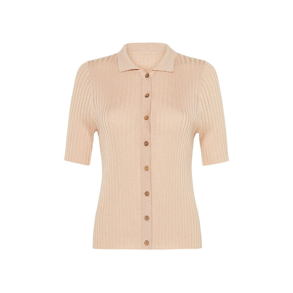 arlo knit shirt in sand