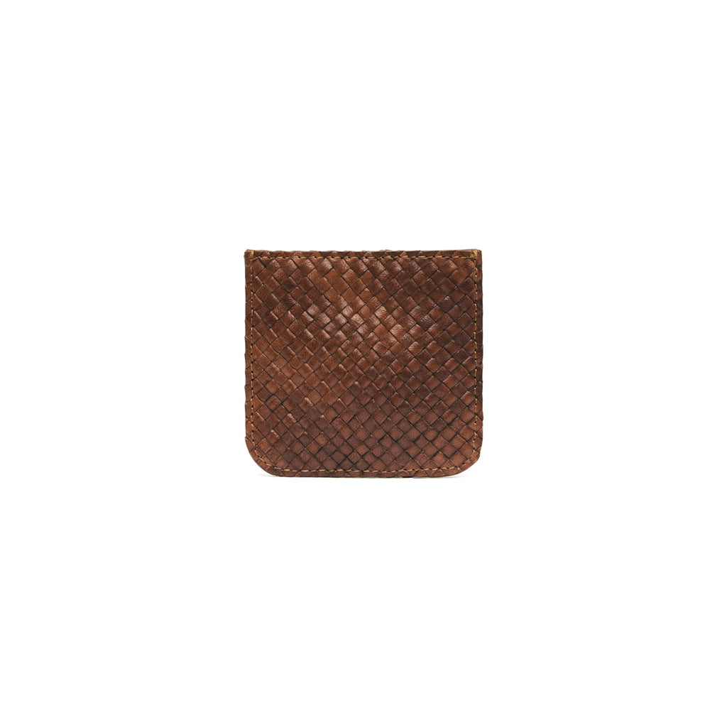 roy coin purse in antique tan