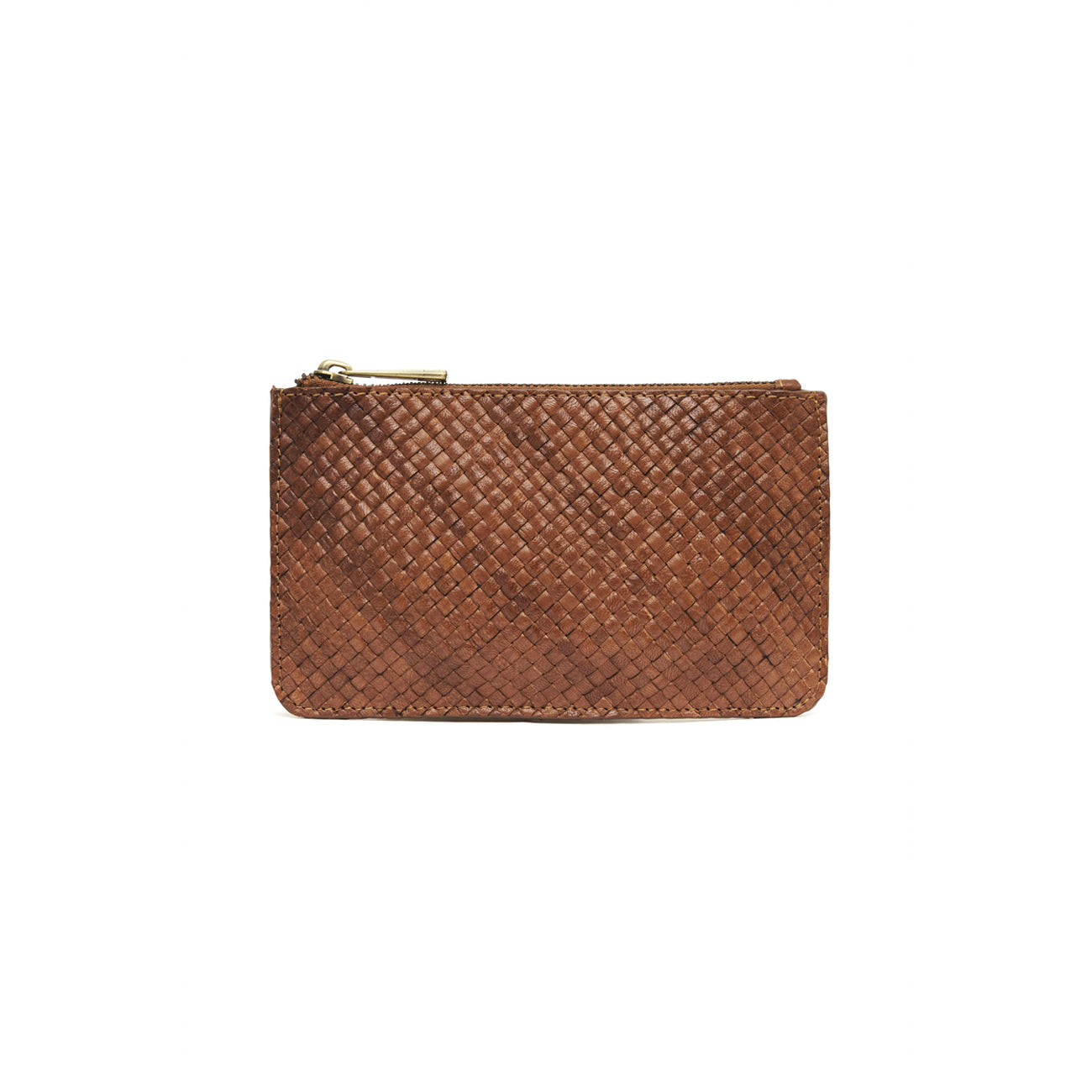 louis zip pouch in antique tan