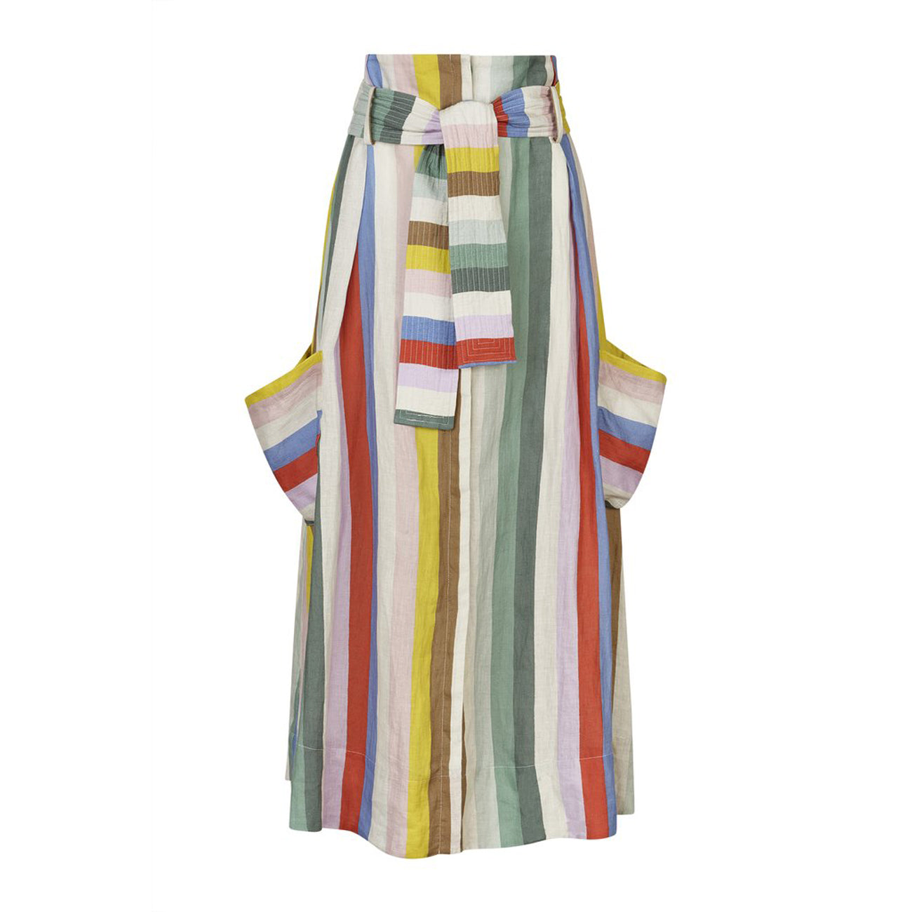 Whit Pocket Skirt in Rainbow Stripe