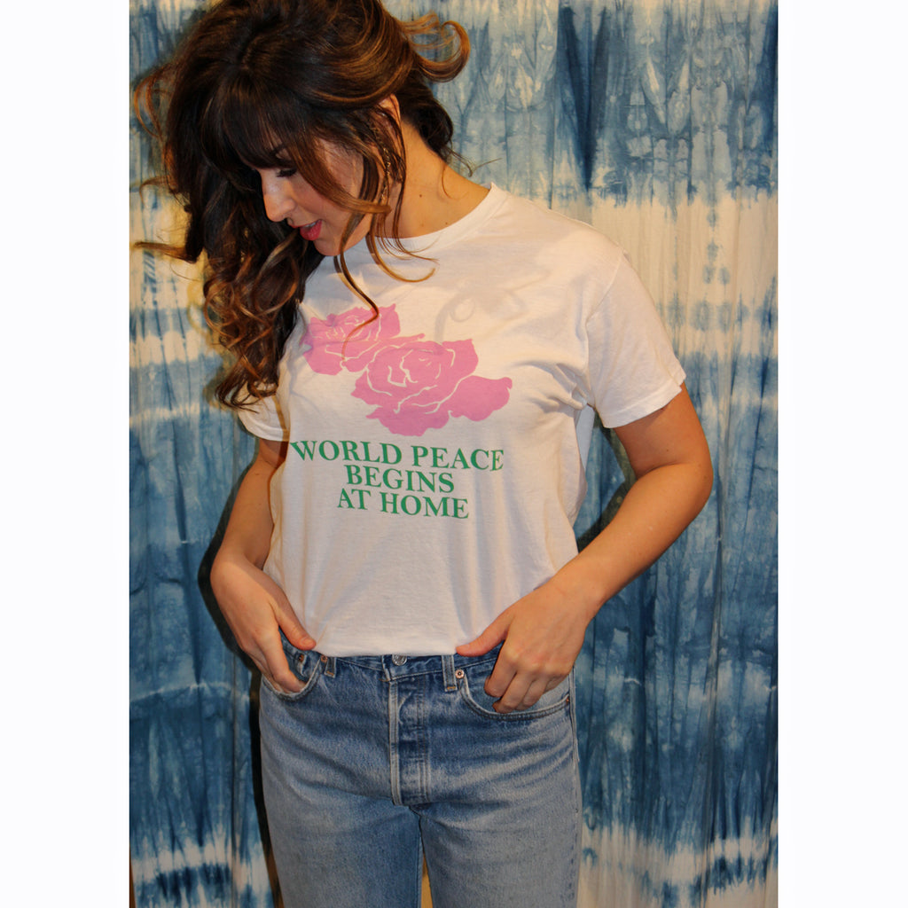 world peace begins at home tee