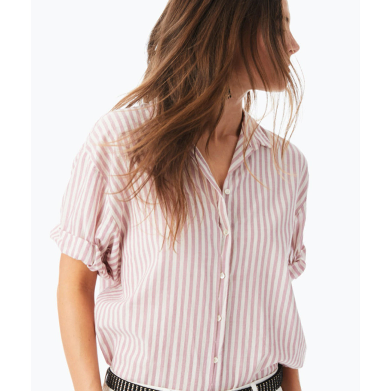 channing shirt in mesa rose