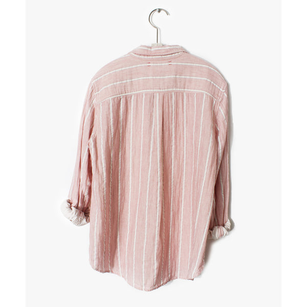 Xirena Scout Shirt in Coral Pink