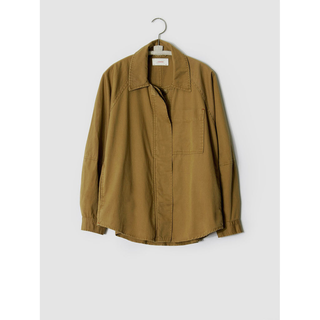 leigh twill jacket in khaki