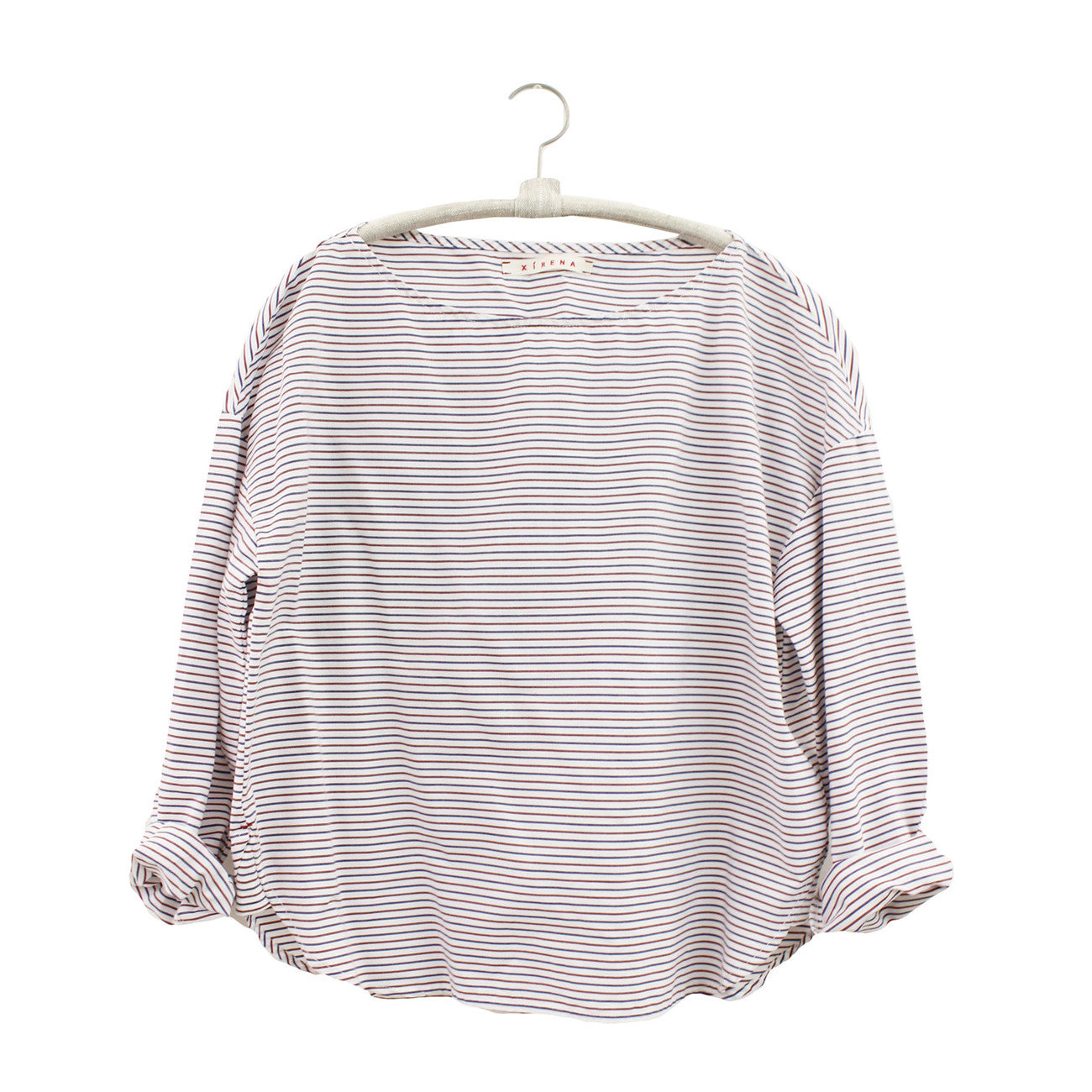 Xirena Yale Club Striped Cotton Winston Top in Liberty