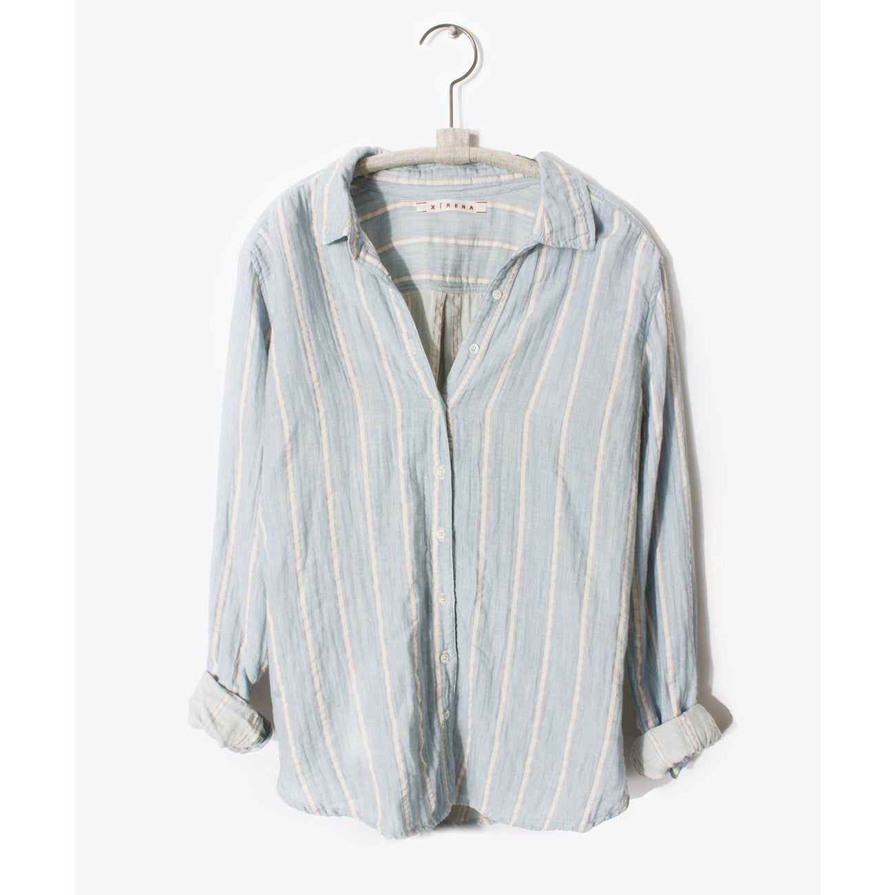 Xirena Scout Shirt in Seaside Blue