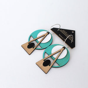Deco Earrings: Turquoise