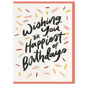 Happiest Birthday - Letterpress Card
